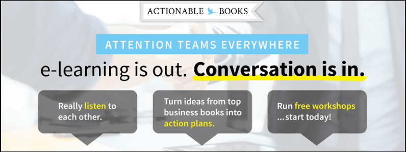 e-Learning is out. Conversation is in. Run free workshops ... start today!